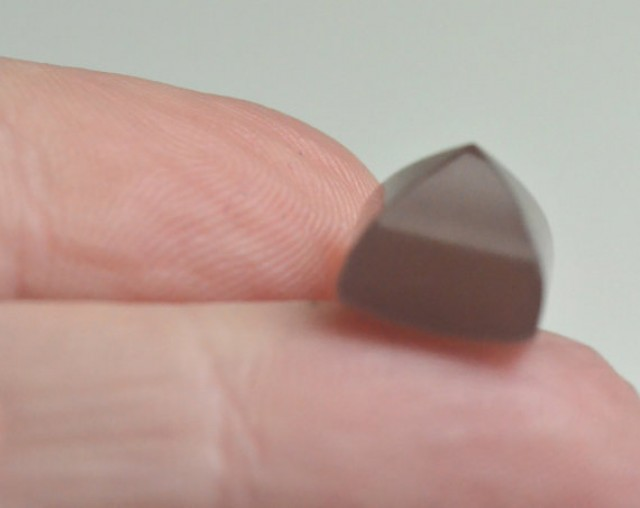 Brown Moonstone sugar loaf gemstone cabochon 10mm by 8.5mm
