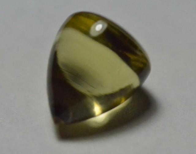 Lemon Citrine bullet gemstone cabochon pointed top