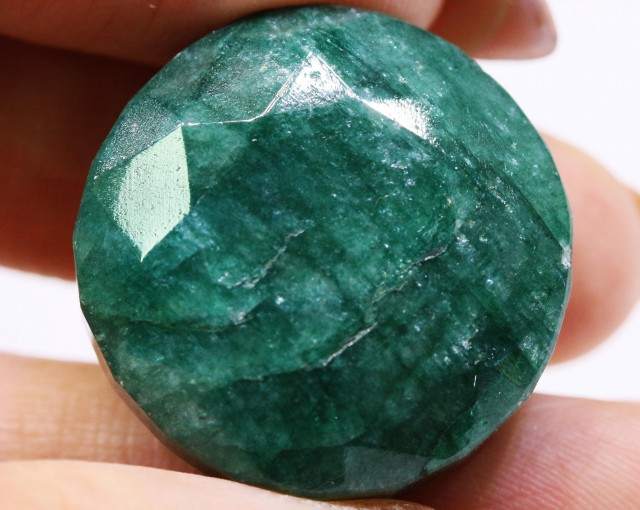 57.36 CTS HUGE  CERTIFIED BEAUTIFUL FACETED EMERALD  57.36 CTS  0421