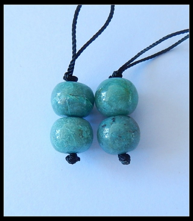 24Ct Natural Chrysocolla Gemstone Earring Beads