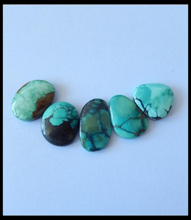 34.5Ct Turquoise Gemstone Cabochons Parcel