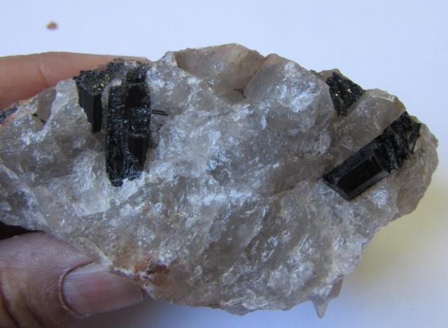 .409 kilo  Australian Black Tourmaline in Quartz Specimen  PPP 329