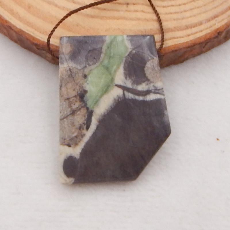 53.5Ct Natural Mushroom Jasper Pendant Bead P0065
