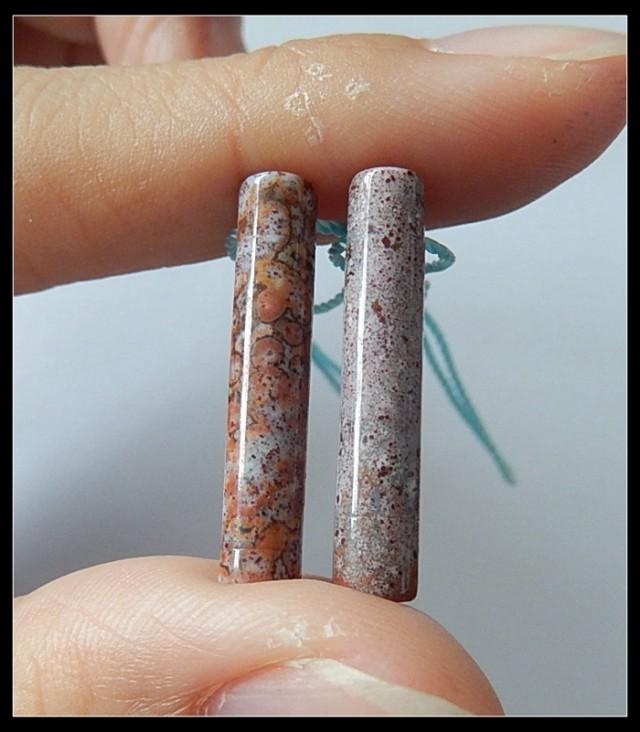 11.5Ct Natural Ocean Jasper Earring Beads