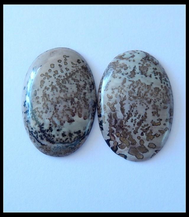 35Ct Natural Chohua Jasper Cabochons,2 PCS