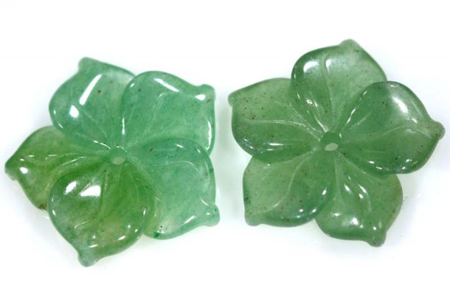 8.40 CTS JADE FLOWER CARVING PAIR TBG-2400