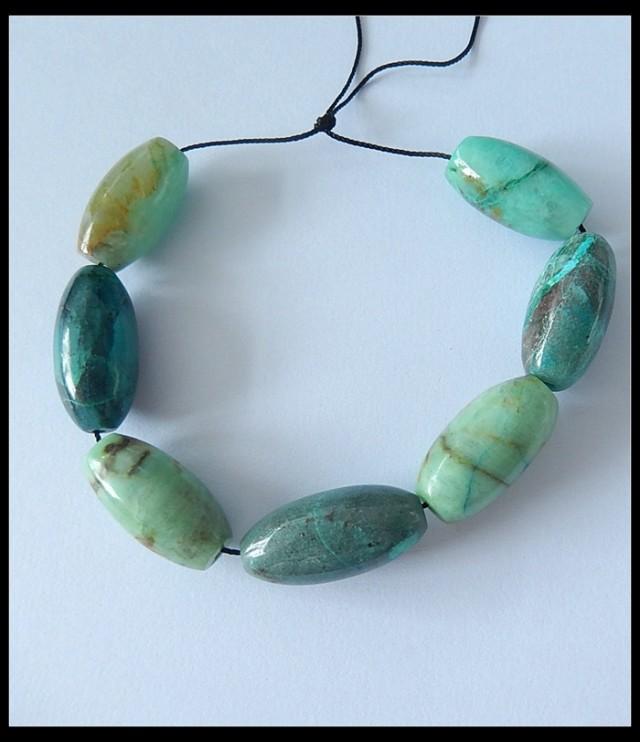171.5Ct 7 Pcs Specialoffer Natural Chrysocolla Beads Strand