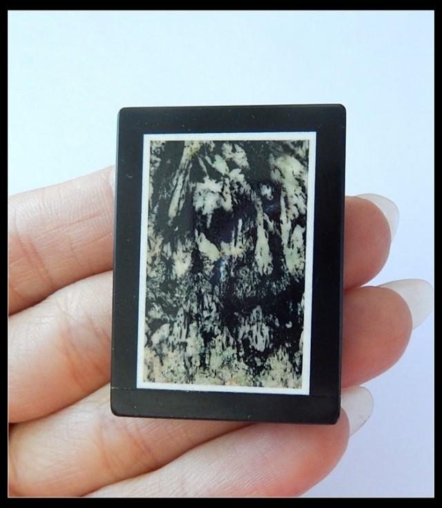 116.5Ct Natural Serpentine,Black Jasper Jasper Intarsia(B1804331)