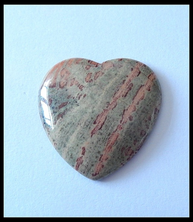 40.5Ct Natural Wood Fossil Gemstone Heart Cabochon