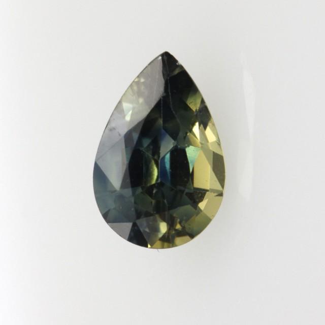 0.95cts Natural Australian Yellow/Blue Parti Sapphire Pear Cut