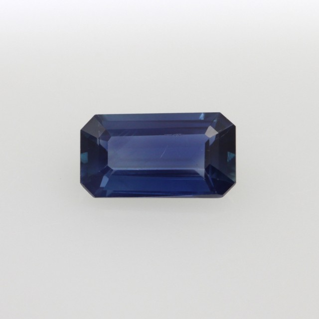 0.73cts Natural Australian Blue Sapphire Emerald Cut