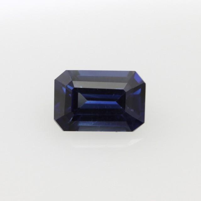 0.72cts Natural Australian Blue Sapphire Emerald Cut