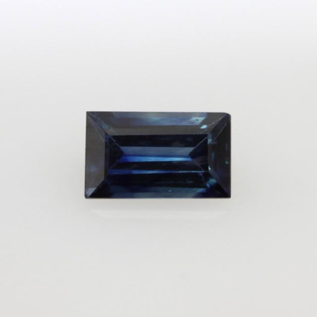 0.75cts Natural Australian Blue Sapphire Baguette Cut