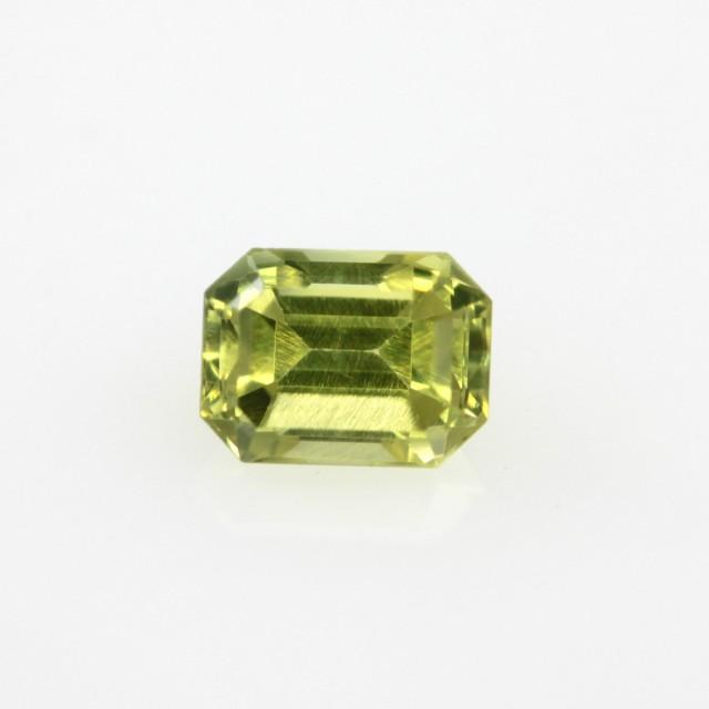 0.64cts Natural Australian Yellow Sapphire Yellow Cut