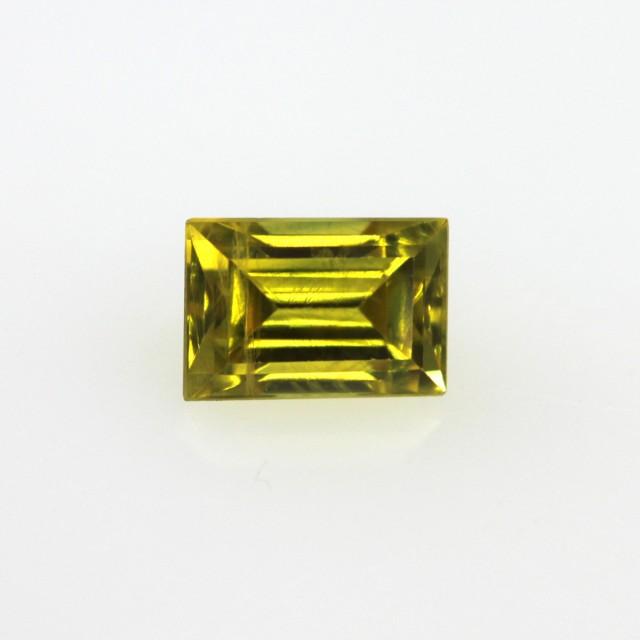0.54cts Natural Australian Yellow Sapphire Baguette Cut