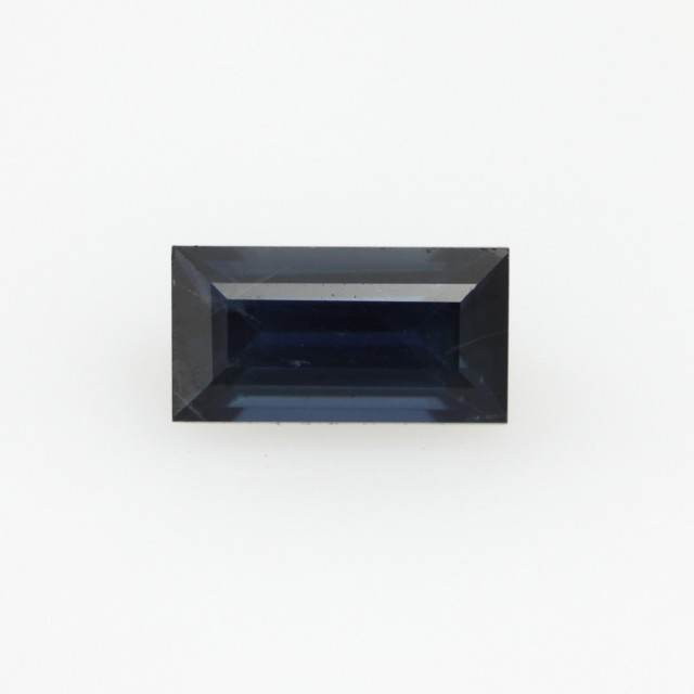 0.68cts Natural Australian Blue Sapphire Baguette Cut