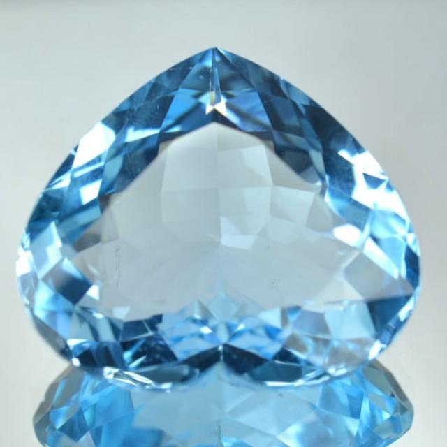 Cute Heart 30 Cts Natural Blue Topaz Brazil Gem