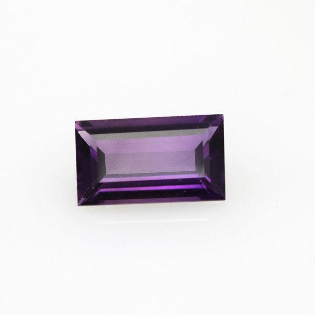 1.23cts Natural Purple Amethyst Baguette Shape