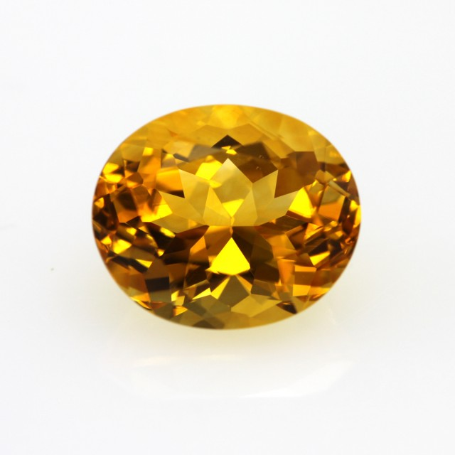 4.83cts Golden Yellow Citrine Oval Shape