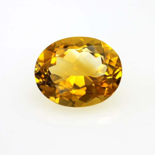 2.77cts Golden Yellow Citrine Oval Shape