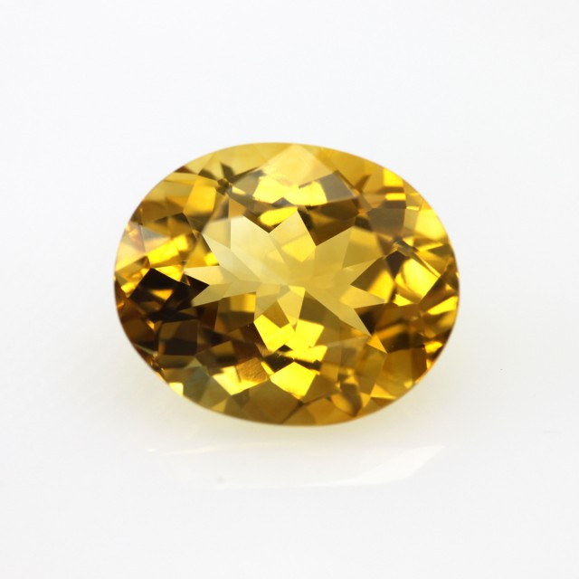 4.11cts Golden Yellow Citrine Oval Shape
