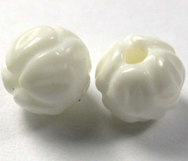 SHELL CARVED BEADS DRILLED 10 PCS 55 CTS NP-1928