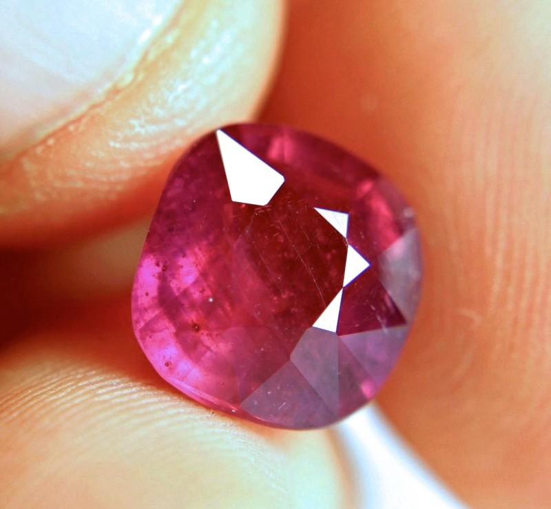 7.88 Ct. Pinkish Red Fiery Ruby - Elegant Gem