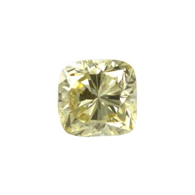 0.59cts Natural Fancy Intense Yellow Cushion Shape Diamond