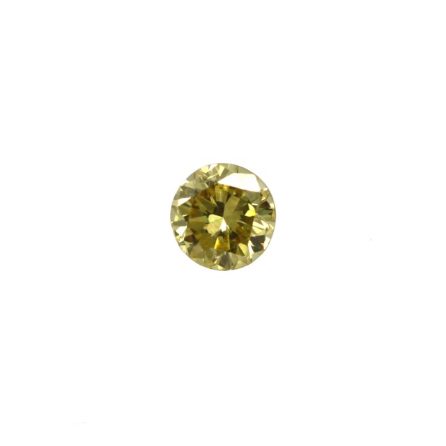 0.14cts Natural Fancy Intense Yellow Round Shape Diamond
