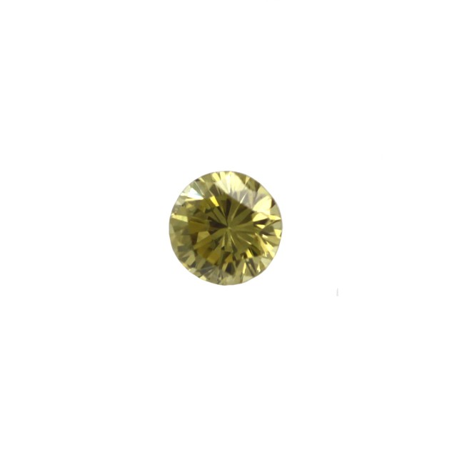 0.16cts Natural Fancy Deep Yellow  Round Shape Diamond
