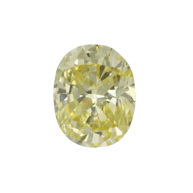 0.43cts Natural Fancy Yellow  Oval Shape Diamond
