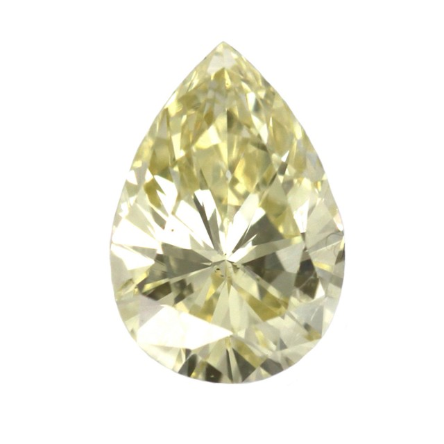0.74cts Natural Fancy Light Yellow Pear Shape Diamond