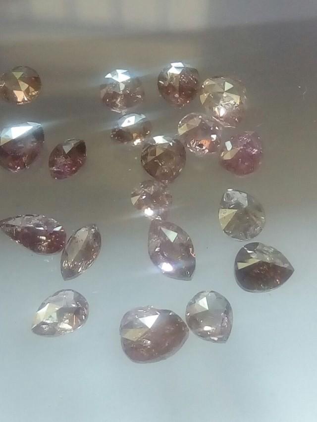 NATURALPURPLEPINK DIAMOND-19PCS-2.70CTWLOT