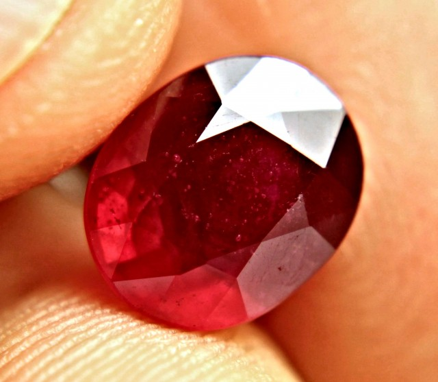 4.76 Carat Unusual Red Ruby