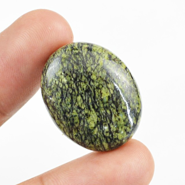 Genuine 26.45 Cts Oval Shaped Zebra Jasper Cab