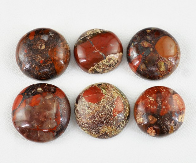 Genuine 106.15 Cts Round Shaped Red Jasper Lot