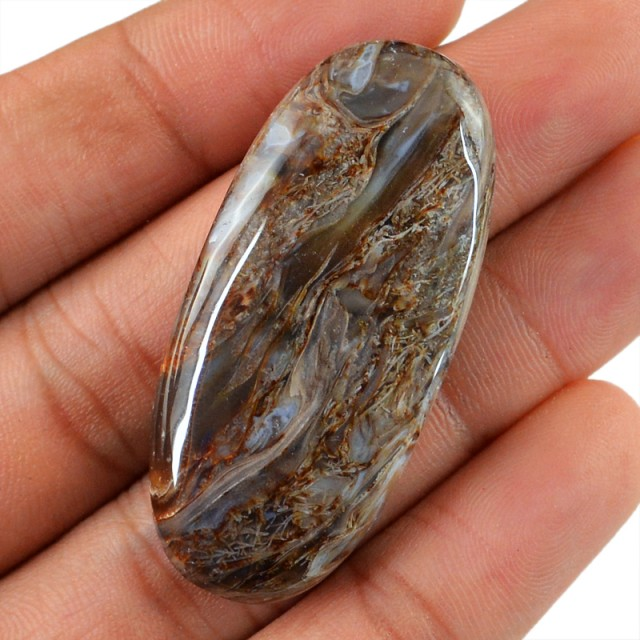 Genuine 70.60 Cts Oval Shaped Montana Agate Cab