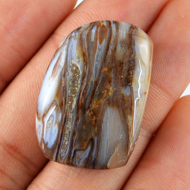 Genuine 50.40 Cts Untreated Montana Agate Cab
