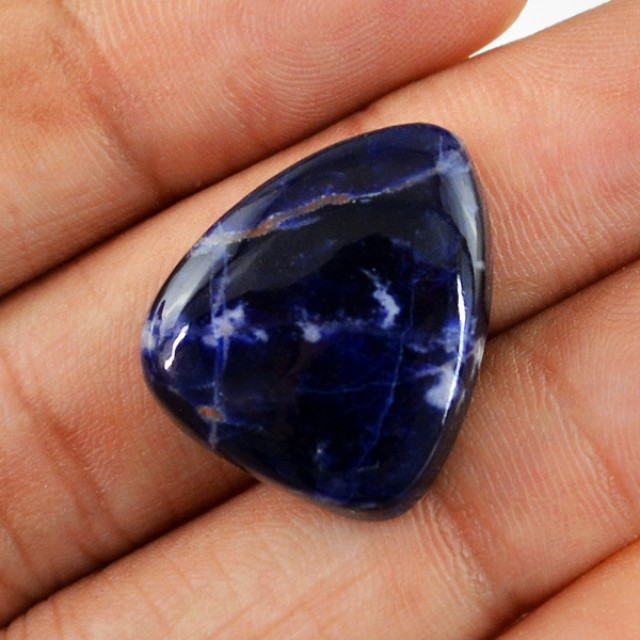Genuine 19.60 Cts Blue Sodalite Untreated Cab