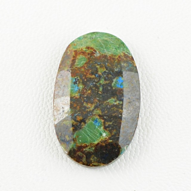 Genuine 22.15 Cts Checkered Cut Oval Shaped Azurite Cab