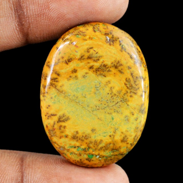 Genuine 39.30 Cts Oval Shaped Dessert Jasper Cab