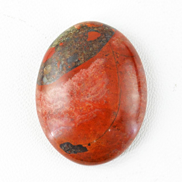 Genuine 62.70 Cts Oval Shaped Red Jasper Cab