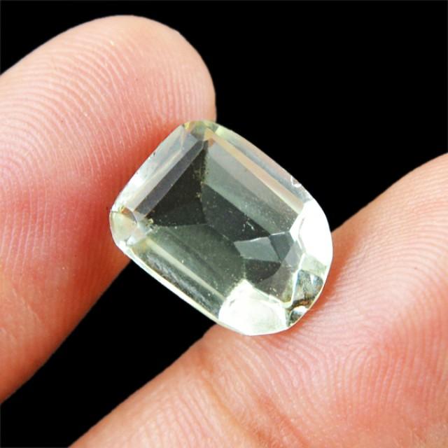Genuine 5.00 Cts Untreated Faceted Prasiolite Prasiolite Gemstone