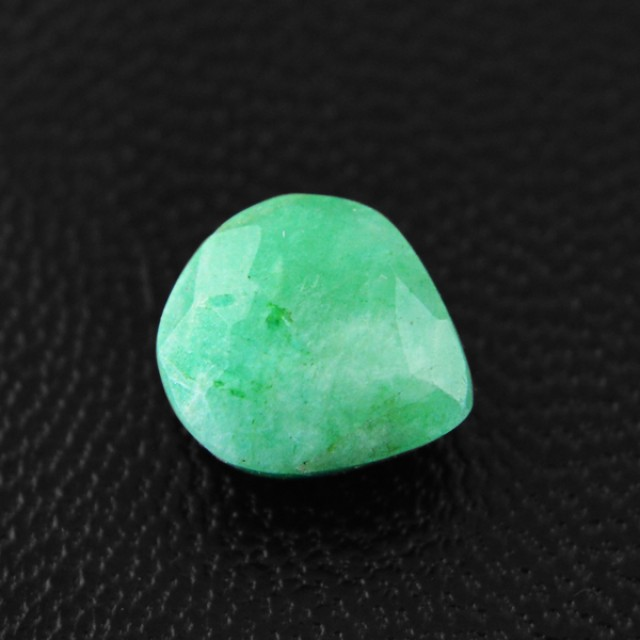 Genuine 3.45 Cts Checkered Cut Green Emerald Cab