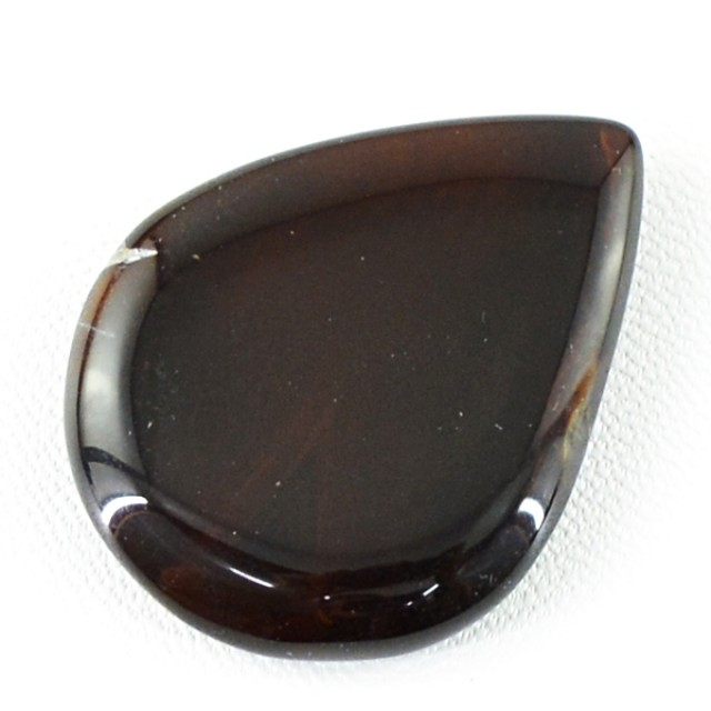 Genuine 45.65 Cts Pear Shaped Brown Onyx Cab