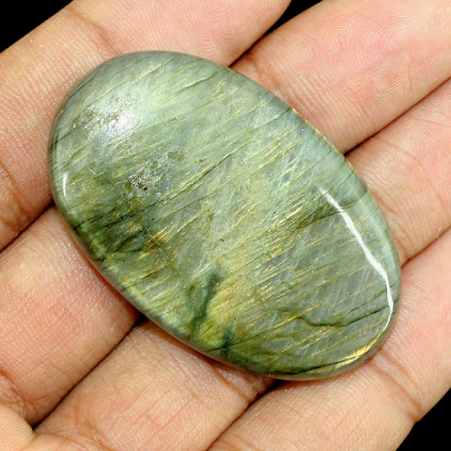 Genuine 98.00 Cts Oval Shaped Labradorite Cab
