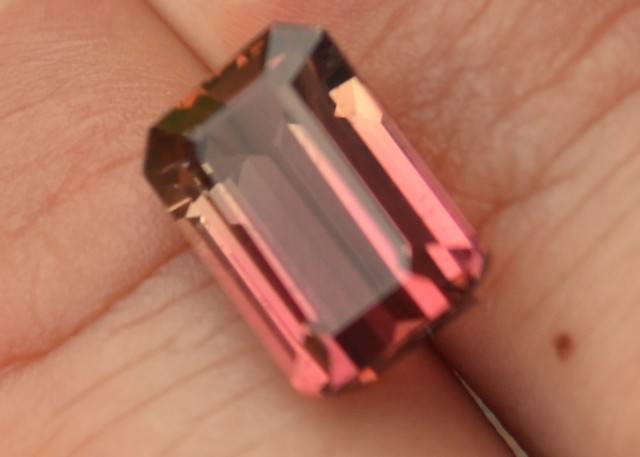 6.16 Carat Bicolor Pink and Yellow Tourmaline