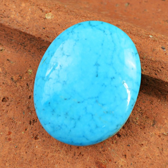 Genuine 55.00 Cts Oval Shaped Turquoise Cab