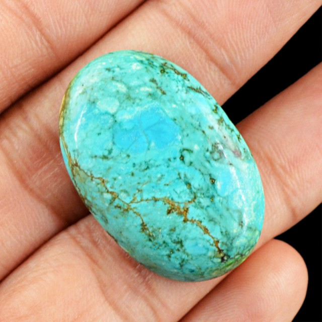 Genuine 36.10 Cts Oval Shaped Turquoise Cab