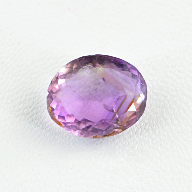 Genuine 8.70 Cts Faceted Oval Shaped Purple Amethyst Gemstone